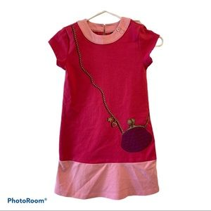 Girl's Pink Dress with stamped on Purse size 7